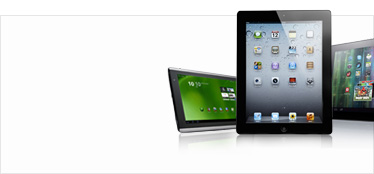 Three tablet computer devices